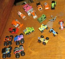 18 vintage 1980's GALOOB MICRO MACHINE CARs MONSTER TRUCK CONSTRUCTION RACE MISC