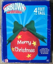 Gemmy Ornament Merry Christmas Airblown Inflatable Indoor Outdoor 4 ft