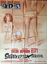 Affiche cinéma SOUDAIN L'ÉTÉ DERNIER 120x160cm Poster Elizabeth Taylor / Hepburn