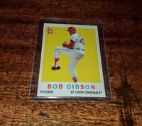 BOB GIBSON 2020 TOPPS THROWBACK THURSDAY #TBT PRINT RUN ONLY #/657 #116 #HOF