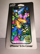 "HD iPhone 5/5s Multi ""Butterflies"" Cover Case 3D Depth Lightweight Easy Fit New"