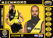 2018 AFL TEAMCOACH TEAM COACH PRIZE CARD RICHMOND TIGERS BACHAR HOULI MINT