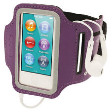 Purple Sports Jogging Gym Armband for Apple iPod Nano 7th Generation 7g
