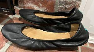 Tieks by Gavrielli Black Leather Ballet Flats Slip on Comfort Womens Size 9