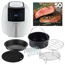 GoWISE USA Air Fryer 5.8 Qt. 8-in-1 White 6-Piece Accessory Set 50-Recipes Book