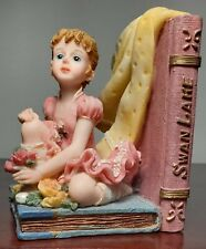 Montefiori Collection Figurine Young Girl Seated With Roses And Book Swan Lake