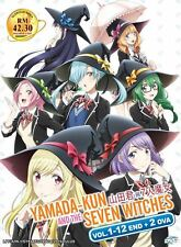 DVD Yamada-kun and the Seven Witches 山田君與7人魔女  Vol.1-12 End + 2 OVA + Free Gift
