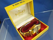 Nino Automatic Jump Hour Swiss Watch Vintage Circa 70s NOS, Serviced Cal AS 2072