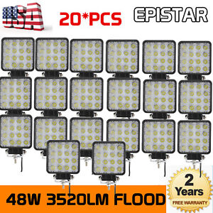 20X 48W LED WORK LIGHT Driving Offroad Lamp 4X4 truck Boat SUV 4WD 12V 24V Truck