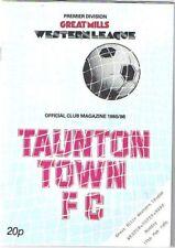 Taunton Town v Weston-Super-Mare 1985/6