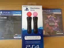 Sony (Playstation Move) 2 Pack (ps4) VR (Rez infinito) y VR mundos 4 Juegos en 1