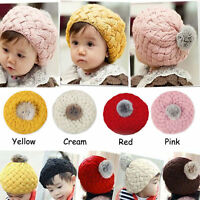 Cute Toddler Kids Girl Boy Baby Infant Winter Warm Crochet Knit Hat Beanie Caps