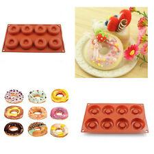 8Cavity Silicone Donut Baking Cake Chocolate Soap Candy Jelly Ice Mold Mould Pan
