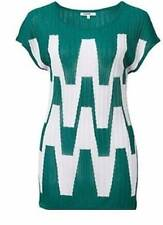 BNWT Missoni Women's Green & White Knitted Top