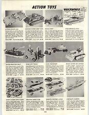 "1958 PAPER AD 11"" Toy Radar Jeep Magic Action Bulldozer Fork Lift Truck Tank"