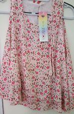 Italy Style T-Shirt Top Shirt Hängerchen rose geblümt Gr. one Size 34, 36, 38,40