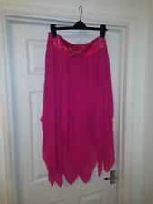 Woman's gorgeous pink skirt with embroidery design waistline Size: UK12