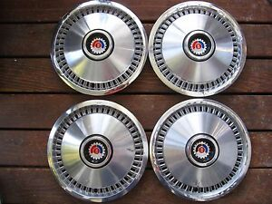 """1970s Mercury Ford 14"""" HUBCAP, SET OF FOUR"""
