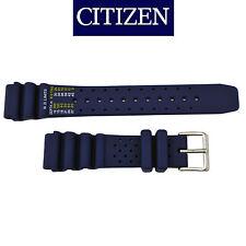Citizen 22mm Black Rubber Watch Band Strap Eco-Drive AW1150-07E  AW1151-04E