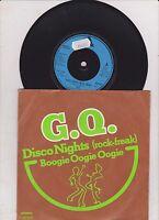 "G.Q. 7"" vinyl single record Disco Nights (Rock Freak) UK ARIST245 ARISTA 1979"