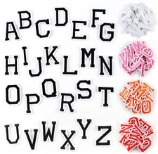 Letter Patches Iron on Sew on Alphabet Embroidered Red Orange Pink White Black