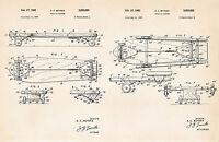 1962 Skateboard Gifts For Boyfriend Skateboarding Art Drawings Patent Wall Decor