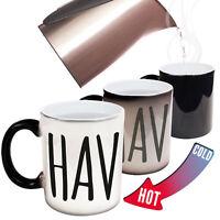 Funny Rude C handle Colour Change Mugs - novelty office joke mug FREE GIFT BOX