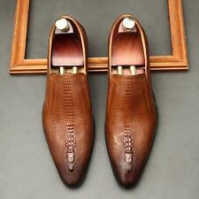 Para hombres Cuero Puntera en Punta Vestido Formal Boda Negocios antideslizante en mocasines zapatos