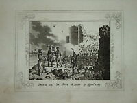 Gravure miniature NAPOLEON SAINT JEAN d'ACRE EGYPTE EGYPT 1830 ORIENTALISTE