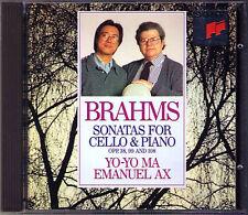 Yo-Yo MA & Emanuel AX: BRAHMS Cello Sonata No.1 2 3 Sony CD 1992 Cellosonaten