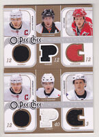 08-09 OPC Iginla Simon Gagne Eric Staal Triple Jersey Materials O-PEE-CHEE