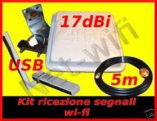 KIT WIFI Antenna wireless wi-fi Usb tp-link 5m cavo