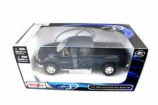 Maisto 2002 Dodge Ram Quad Cab Blue 1/27 Diecast Car 31963