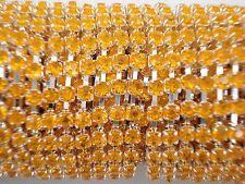 Acrylic 3mm Rhinestone Chain 1m Orange/Silver Costume Sew Dance FREE POSTAGE