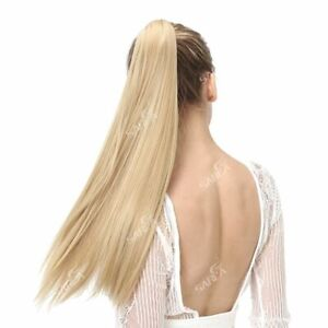 Hair Clip Ponytail Pony Tail Real Extensions Human Claw Extension Wrap Us Around