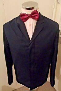 """NEW TOPMAN Men's Navy Half-Lined W/C Blazer/Jacket C40"""" Regular Cotton rrp £60"""
