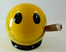 RARE Cigars International Smiley Face Sculpture Ash Tray - Excellent Condition