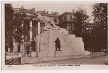 Royal Artillery Memorial, Hyde Park Corner, London RP Postcard, B581