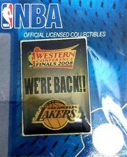 Los Angeles Lakers Lapel Pin 2008 NBA WERE BACK!! Collector Souvenir Kobe Bryant