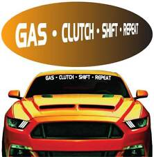 """Gas Clutch Shift Repeat Cool Windshield Banner Auto Car Truck Decal 40"""""""
