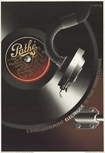 A.M. CASSANDRE Pathe 39.75 x 27 Lithograph 1981 Vintage Black & White, Brown Mus