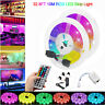 10M/15M 32.8Ft RGB 600 LED Strip Light 3528 SMD+44 Key Remote+12V DC Power Kit