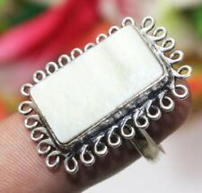 """Mother of Pearl Gemstone Ring 925 Sterling Silver Overlay Us Size 7"""" U240-A85"""