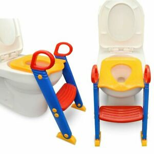 Boy Girl Toddler Potty Training Toilet Seat With Loo Step Ladder Child Baby Kids