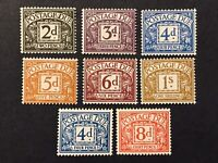 GB 1968 - 1969 Postage Due Full Set SG D69-D76 MNH (error on 2d.)