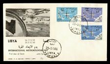 DR WHO 1965 LIBYA FDC INTL METEOROLOGICAL DAY SPACE  C233666