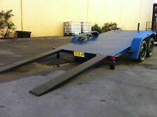 Car Trailer TANDEM MANUAL TILT BED 12x6.6FT  2TATM AUSTRALIAN MADE