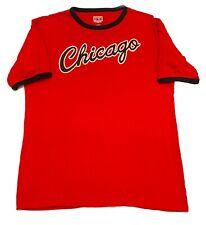 Chicago Bulls Majestic Hardwood Classic Red Short Sleeve T-Shirt Mens Large L