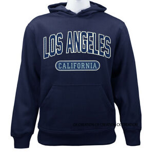 Los Angeles California Republic Golden State Casual Graphic Pullover Hoodie