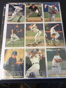 1995 Fleer Rookie Exchange Set - 9 card set